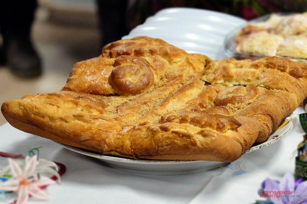 Пироги на фестивале были на любой вкус и размер.