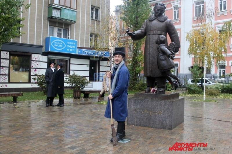 Акция проходит в рамках детского театрального фестиваля «Маршак».