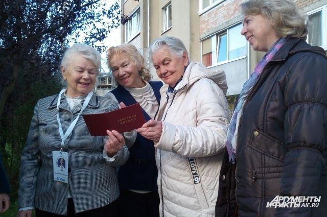 Пенсионерки готовы еще многому научиться!