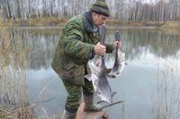 В Павловские озера впервые выпустили 150 кг веслоноса.