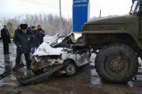 На трассе Оренбург-Илек в ДТП с двумя «Уралами» погиб водитель «Оки»