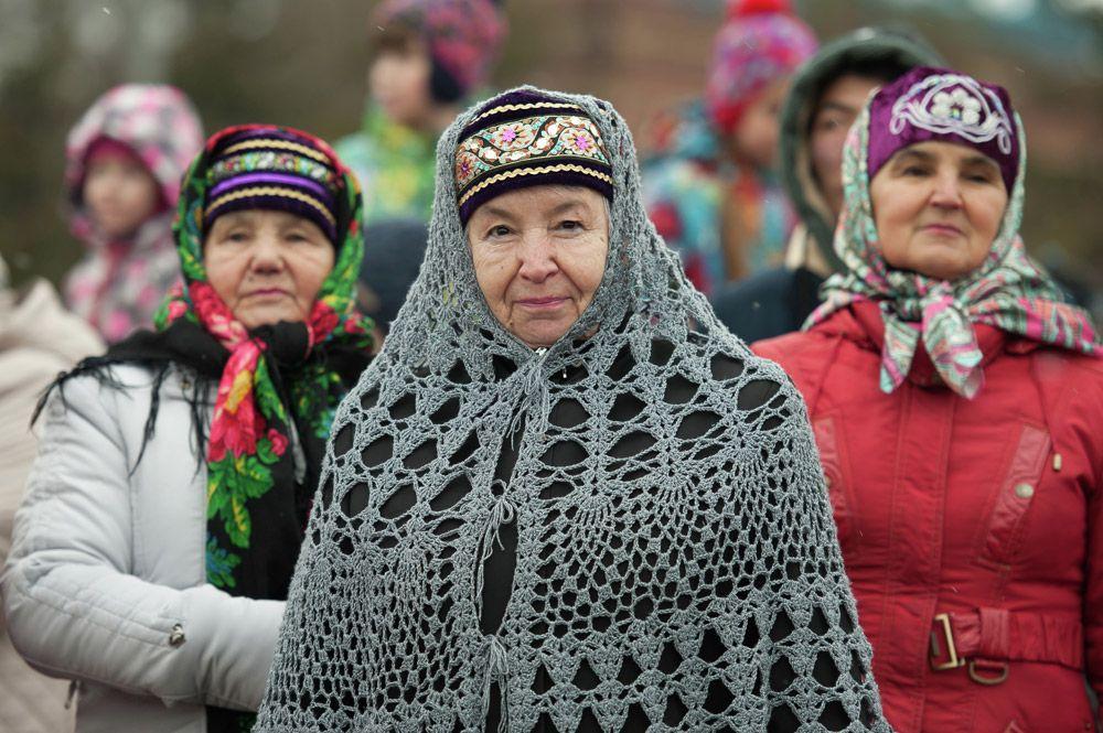 Представители татарской общины на Ново-Соборной площади Томска во время празднования Дня народного единства.