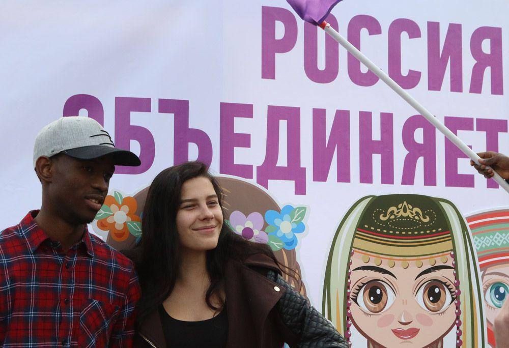 На праздновании Дня народного единства в Симферополе.