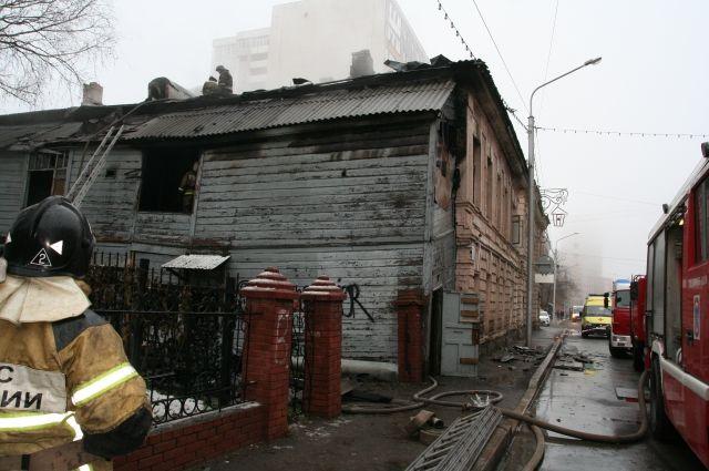 ВУфе вцентре города живьем сгорел мужчина