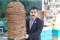 В соломенном улье пчелам в Сибири холодно, поэтому его можно увидеть только в музее.