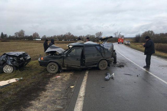 ВОрловской области вДТП пострадали 4 человека