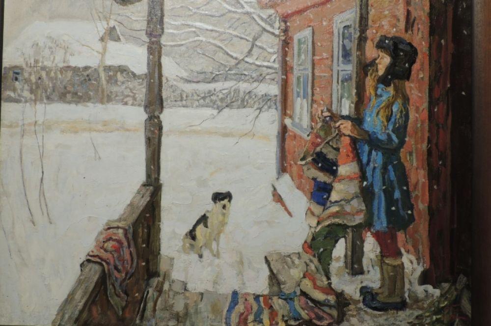 «Зима в деревне». Автор: Сергей Ткачёв, 1973
