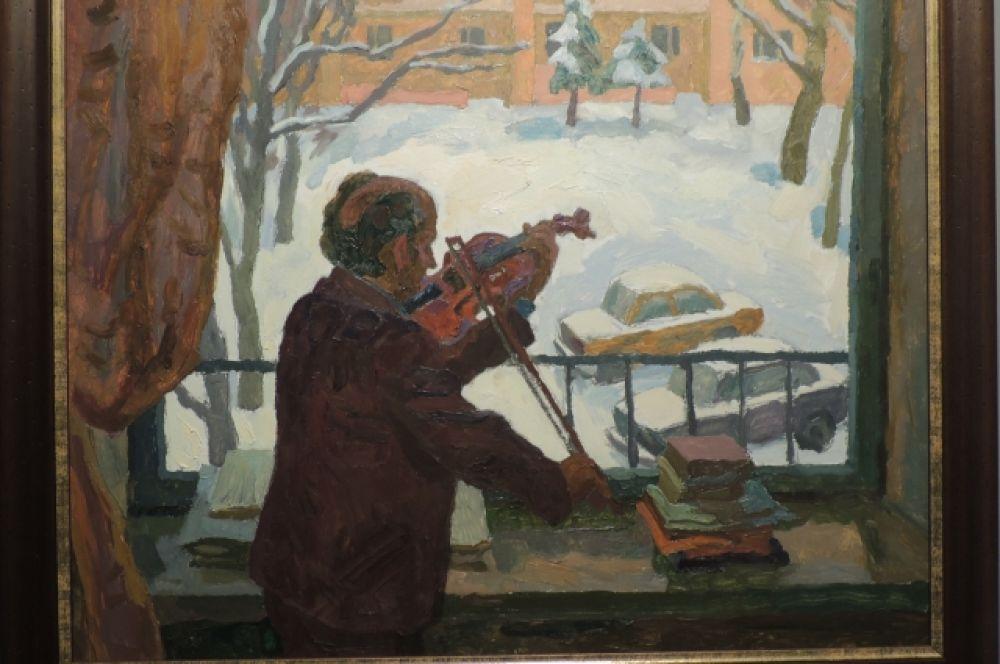 «Автопортрет со скрипкой». Автор: Карл Фридман, 1990