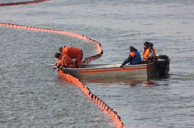 СОбводного канала собрали 100кг нефтяных отходов