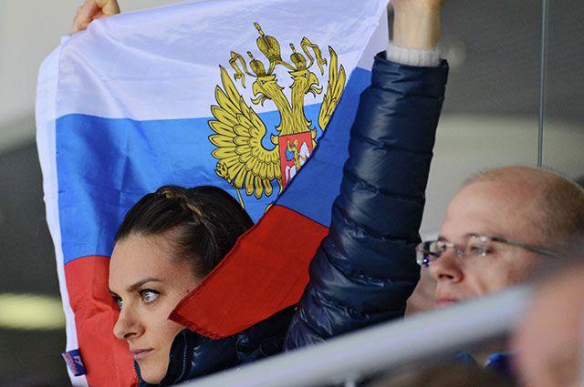 Елена Исинбаева на Олимпиаде в Сочи.