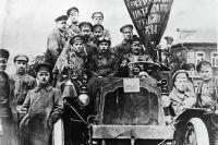 Участники Октябрьской революции Пресненского района города Москвы.