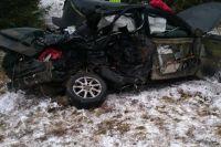 Страшная авария произошла ранним утром.
