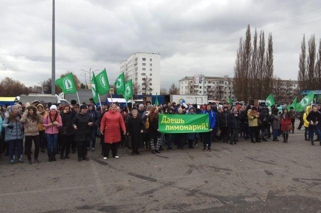 Митинг в защиту Уфимского лимонария, прошедший 21 октября в Уфе