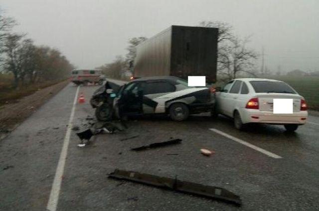 Шофёр умер вмассовой трагедии счетырьмя авто наСтаврополье