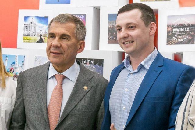 Ринат Галиахметов с президентом РТ Рустамом Миннихановым.