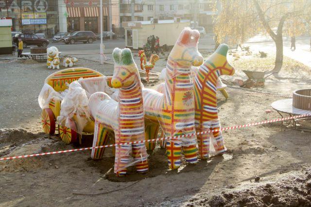 Всквере «Тульское чаепитие» возникла детская площадка
