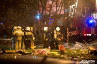 Полиция оцепила район происшествия.