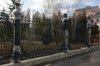 Новое ограждение парка Центрального района