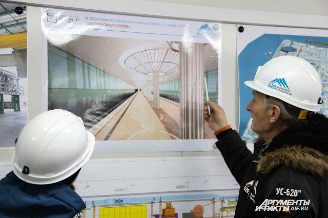 У «Стрелки» будет двухпролётное строение с рядом колонн в середине платформы. Это первая станция такого типа в Нижнем.