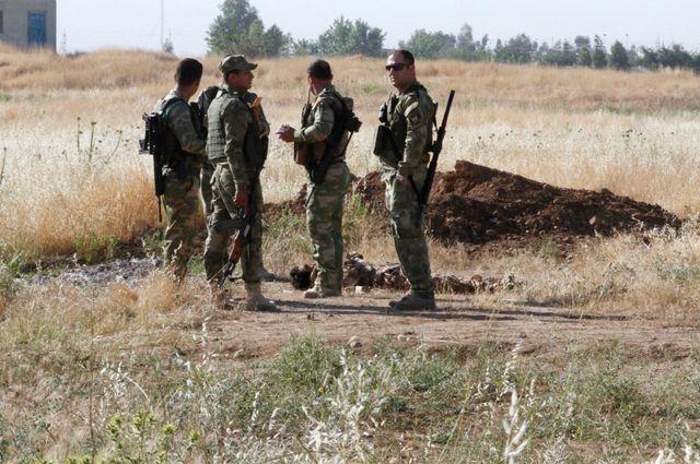Набывшей военной базе США вИраке найдены останки жертв боевиков