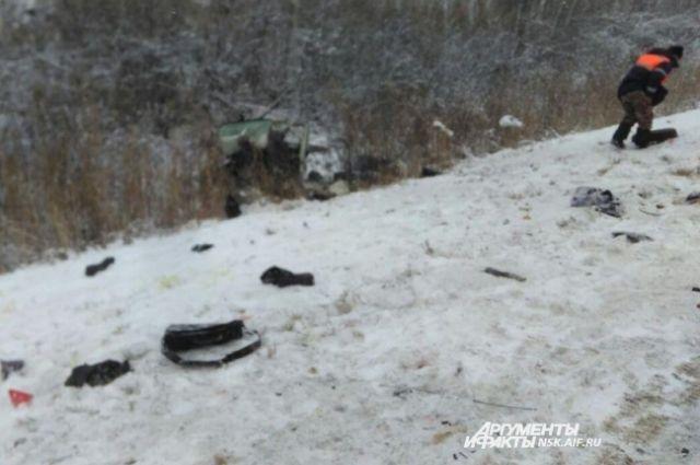 Пассажир «Тойоты» умер  после ДТП с«КамАЗом» вНовосибирской области