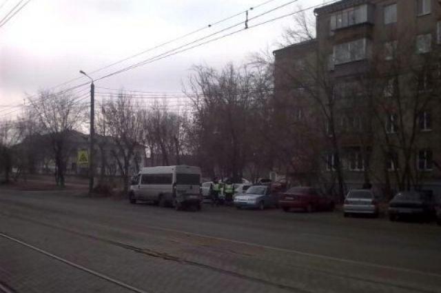 ВЧелябинске маршрутка столкнулась с 2-мя легковушками
