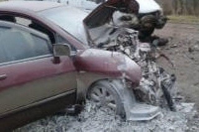 Фото сместа ДТП спятью пострадавшими Щекинском районе