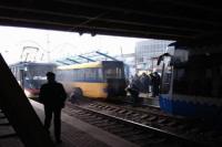 В Киеве загорелся скоростной трамвай на одной из остановок