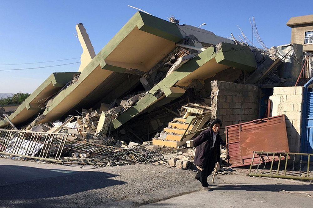 Разрушения в городе Дарбандихан на северо-востоке Ирака.