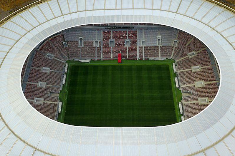 Большая спортивная арена «Лужники» с воздуха.
