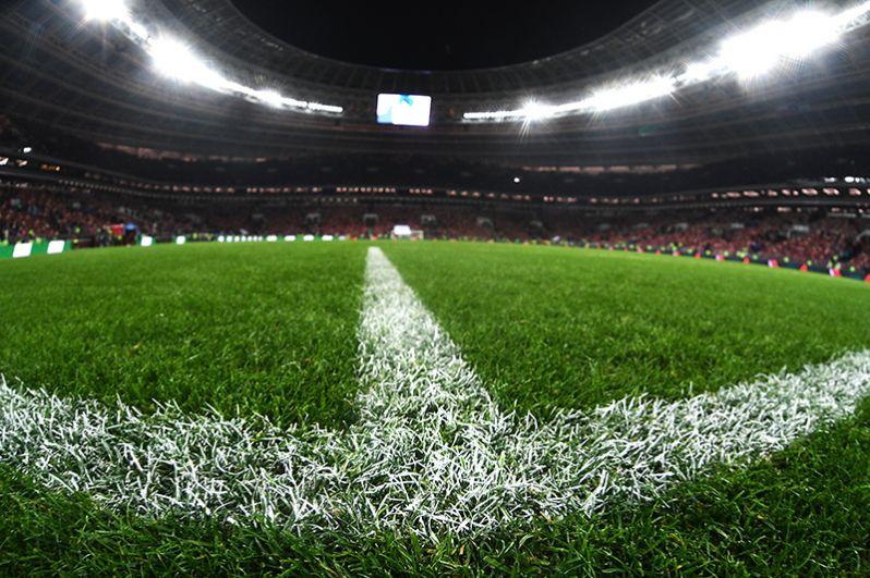Во время товарищеского матча между сборными командами России и Аргентины на стадионе «Лужники».