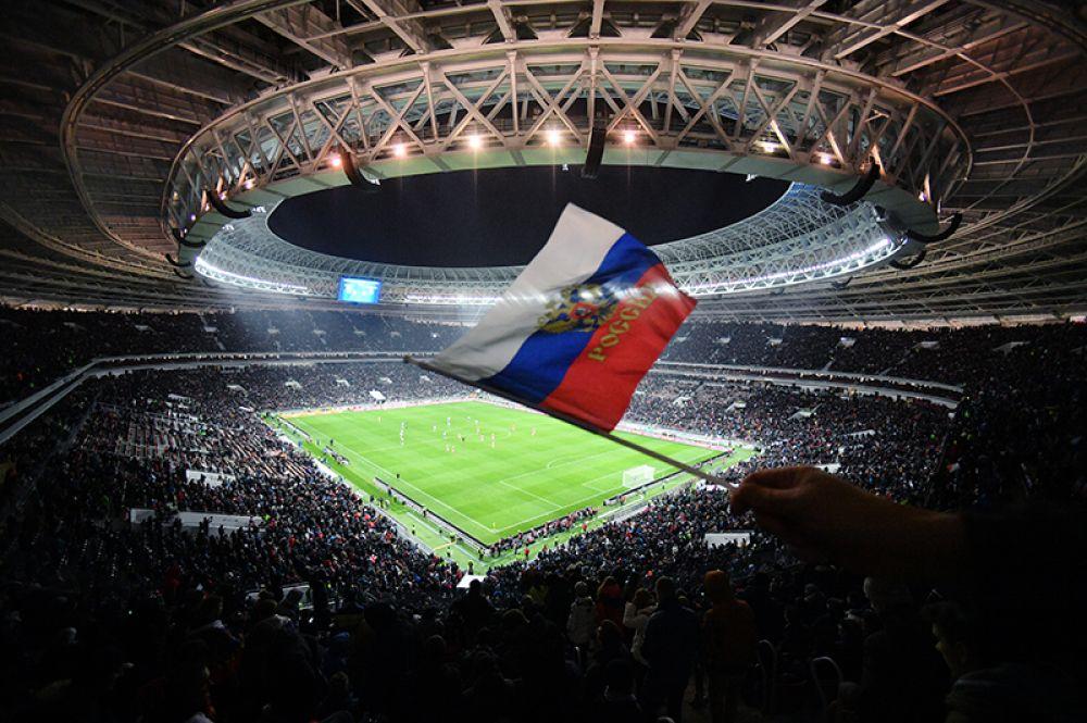 Товарищеский матч между сборными командами России и Аргентины на стадионе «Лужники».
