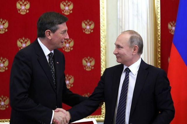 Путин поздравил президента Словении Пахора спобедой навыборах