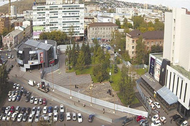 ВКрасноярске улица Диктатуры Пролетариата так ибудет содносторонним движением