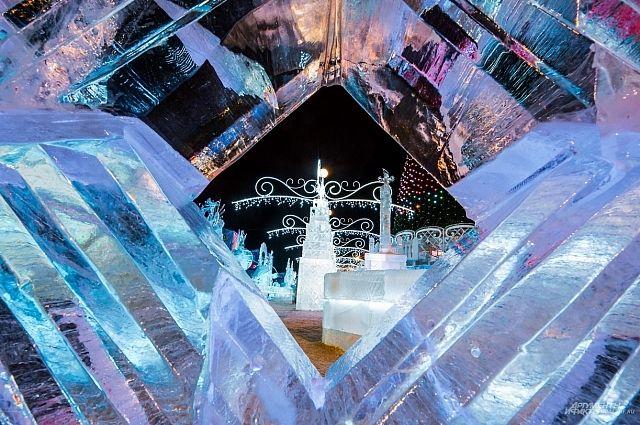 В столицеРФ  наПоклонной горе появятся ледяные Эйфелева вышка  иБиг-Бен