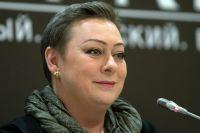 Мария Аронова на пресс-конференции создателей фильма «Батальонъ».