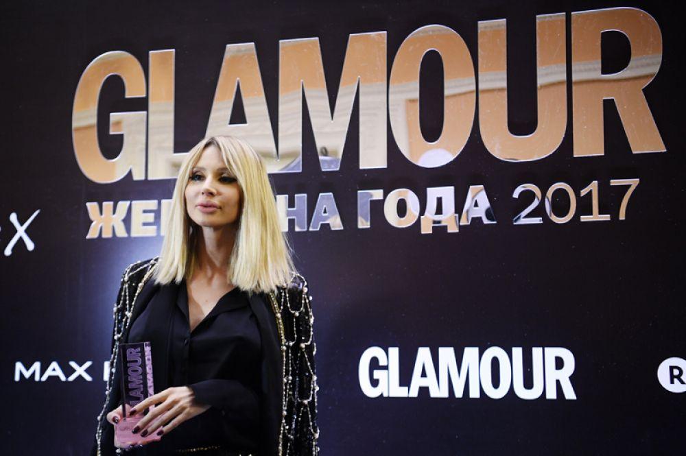 Певица Светлана Лобода, получившая награду в номинации «Женщина года».