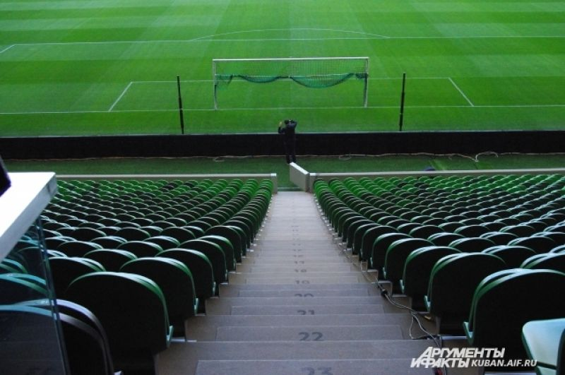 Новый стадион ФК «Краснодар» 14 ноября примет международный матч Аргентина - Нигерия.