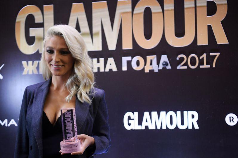 Ведущая Анастасия Ивлеева, получившая награду в номинации «Преображение года».