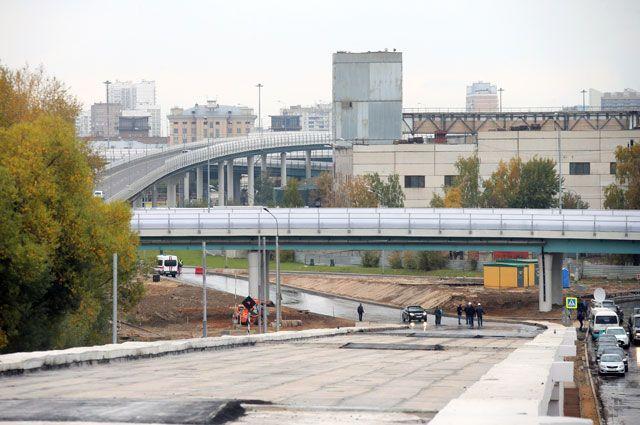 Строительство участка Северо-Восточной хорды отшоссе Энтузиастов доМКАД вМоскве.