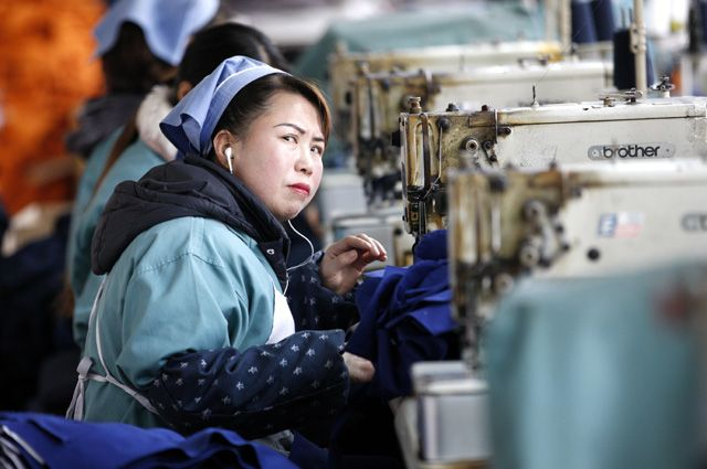 Швейная фабрика в Китае.