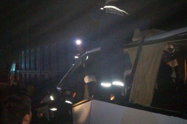 Шофёр микроавтобуса, попавшего вДТП под Ростовом, был трезв