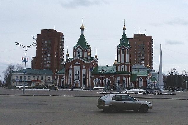 Центр города Глазова.