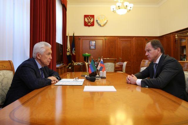 Владимир Васильев провел встречу сМинистром России  поделам Северного Кавказа