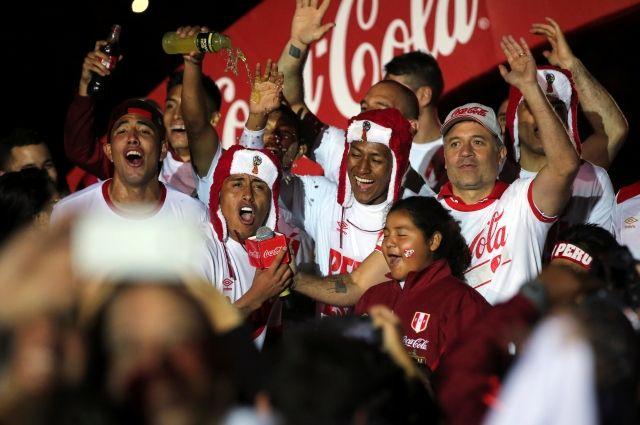 Сборная Перу отпраздновала выход наЧМ-2018 вшапках-ушанках