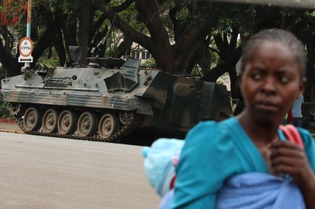 Посольство США вЗимбабве рекомендовало гражданам отыскать укрытие из-за ситуации вХараре