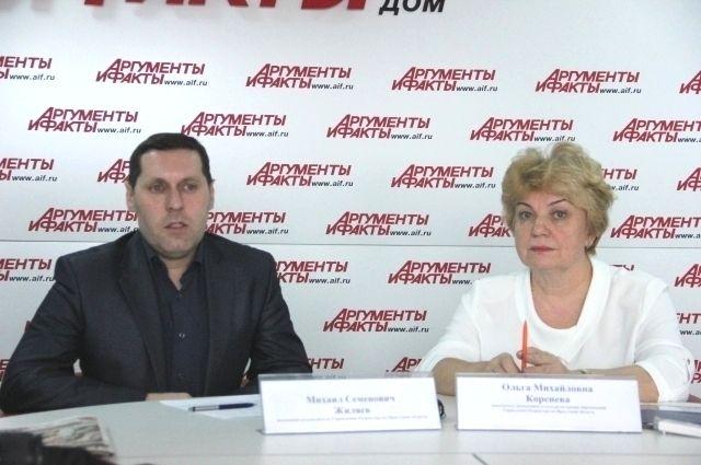 Михаил Жиляев и Ольга Коренева.