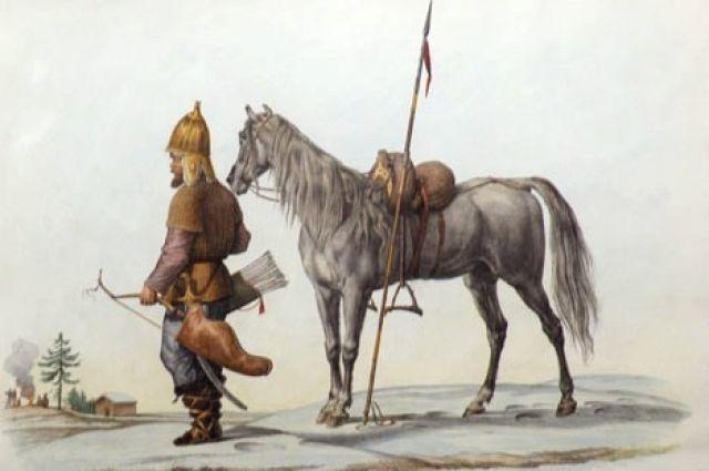 Башкирский воин - французская литография (1788-1871)
