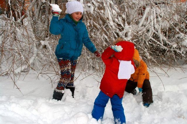 В Омске наконец-то выпал снег.