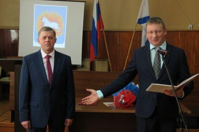 Андрей Егоров в очередной раз вступает в должность главы района, 2016 год.